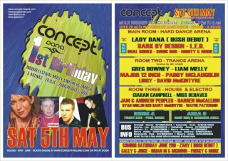 Concept presents its 1st Birthday 5th May Danasm10
