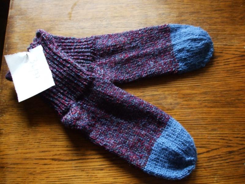 Chaussettes bien chaudes, tricotées main et autres 00510