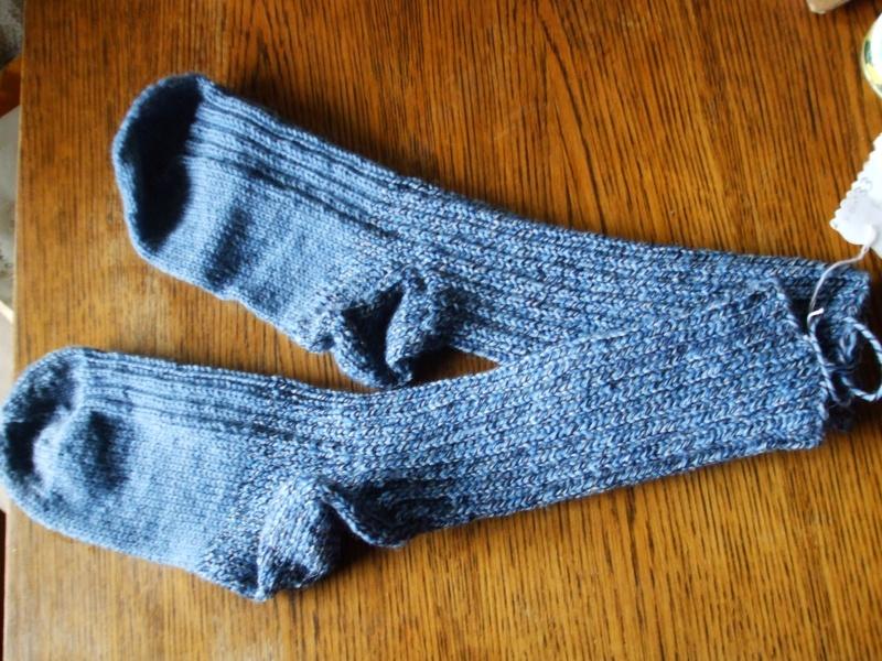 Chaussettes bien chaudes, tricotées main et autres 00710