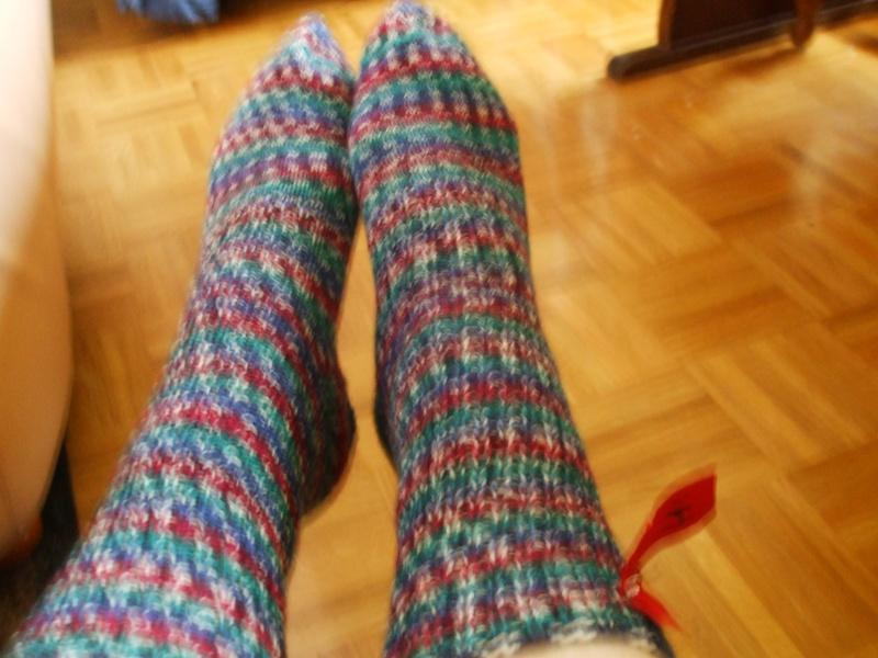 Chaussettes bien chaudes, tricotées main et autres 009bis10