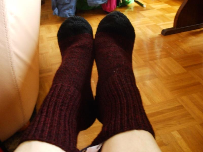 Chaussettes bien chaudes, tricotées main et autres 010b10