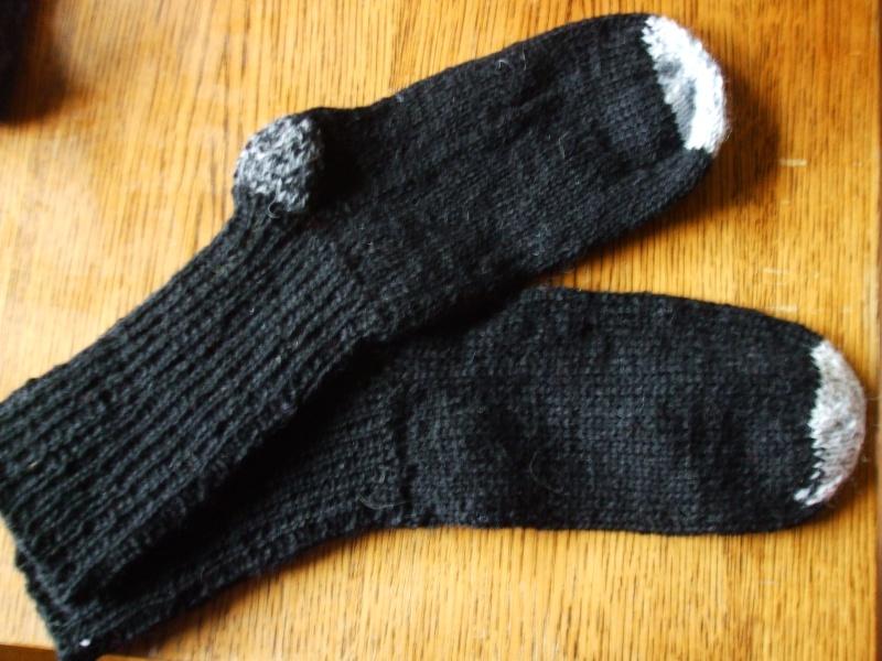 Chaussettes bien chaudes, tricotées main et autres 01310
