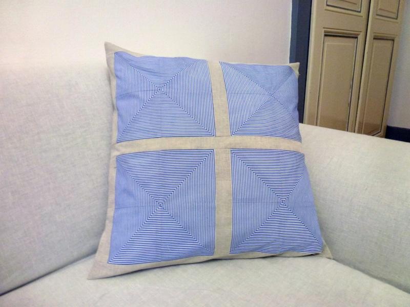 Housses de coussins décoratives en coton et lin Coussi11