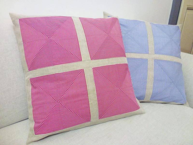 Housses de coussins décoratives en coton et lin Coussi12