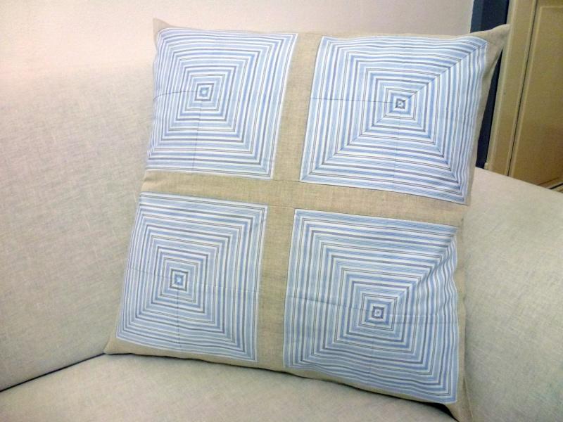 Housses de coussins décoratives en coton et lin Coussi13