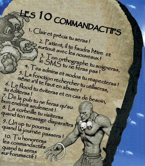 voici quelques regles a respecter Comman10