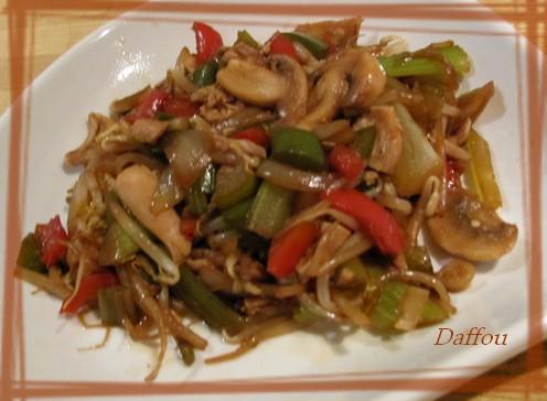 Chop suey au poulet d'Angélina Samedi10