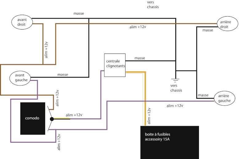 centrale clignotante - [TOUTES] Branchement centrale clignos (LED, ...) Schema10