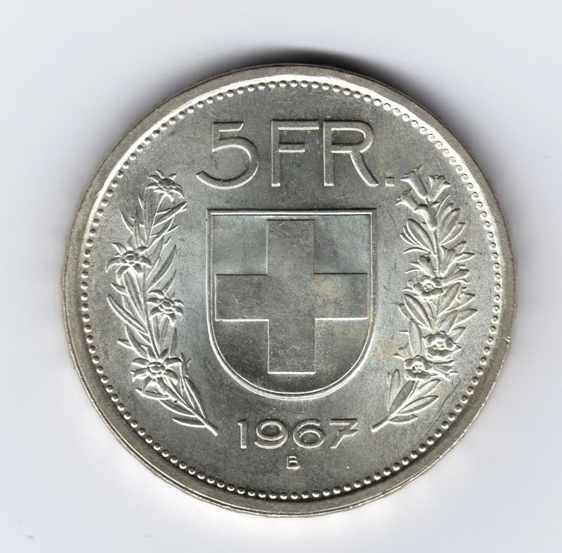 5 francs   Suiza   1967 - 5 Francs. Suiza. 1967. Berna Img43410
