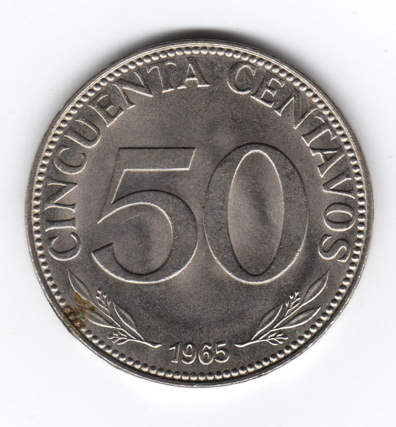 50 Centavos. Bolivia. 1965 Img49910