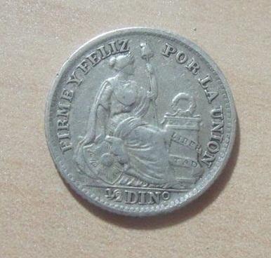 1/2 Dinero. Peru. 1907. Lima Peru2_10