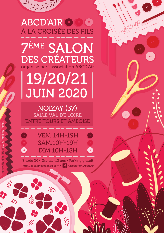 Salon des créateurs Noizay Juin 2020 Affich12
