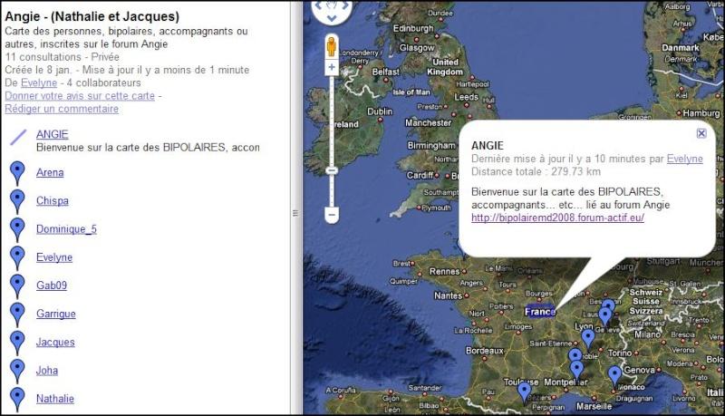 Carte géographique des membres Angie Carte11