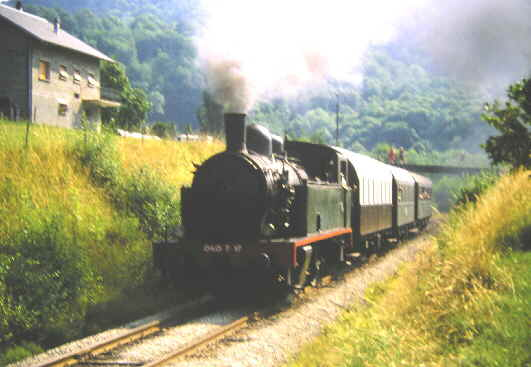 "Train ""Touristique "" Chemin de fer du Bréda Pontacharra - La Rochette 1988 Brada_11"