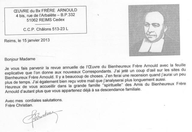 DU BIENHEUREUX FRERE ARNOULD.... A FRERE ANDRE, Saint. - Page 2 Arnoul10