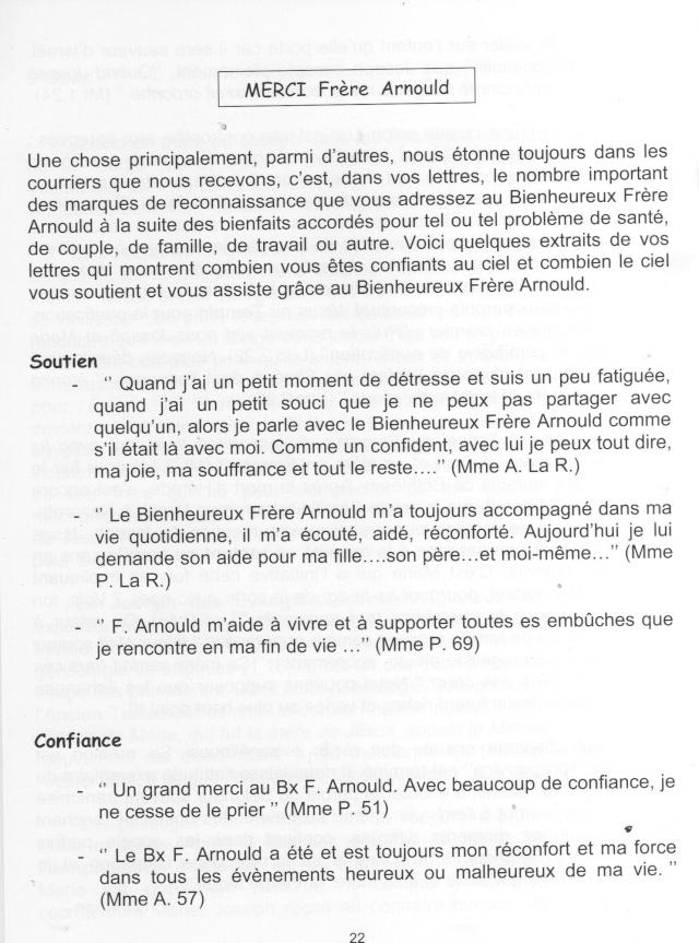 DU BIENHEUREUX FRERE ARNOULD.... A FRERE ANDRE, Saint. - Page 2 Arnoul12