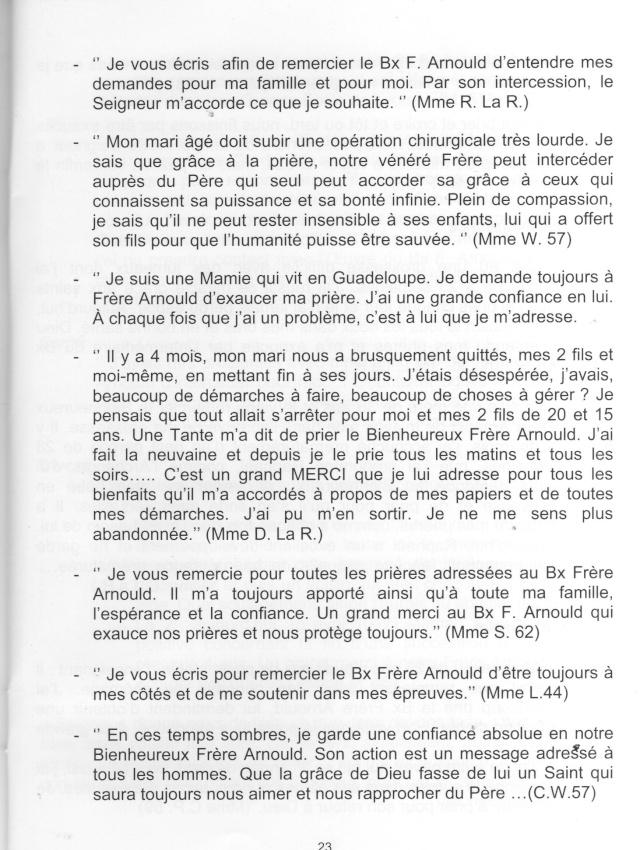 DU BIENHEUREUX FRERE ARNOULD.... A FRERE ANDRE, Saint. - Page 2 Arnoul13