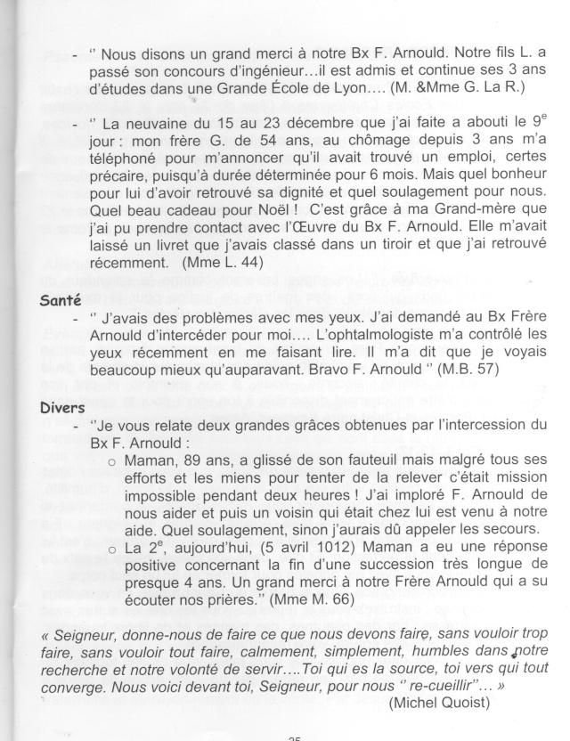 DU BIENHEUREUX FRERE ARNOULD.... A FRERE ANDRE, Saint. - Page 2 Arnoul15