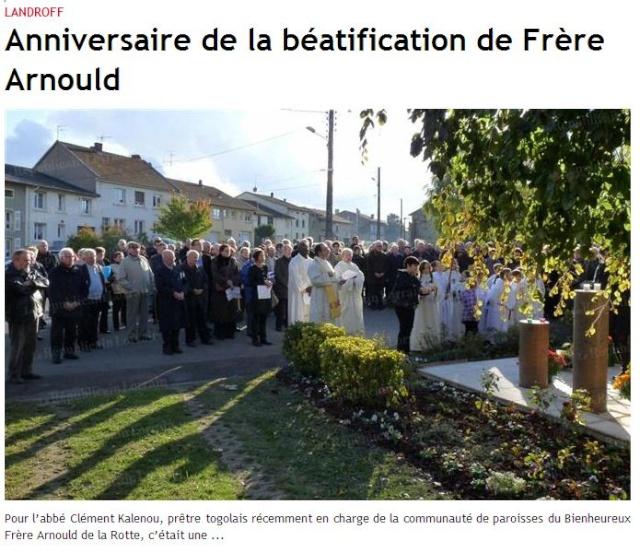 DU BIENHEUREUX FRERE ARNOULD.... A FRERE ANDRE, Saint. Landro10