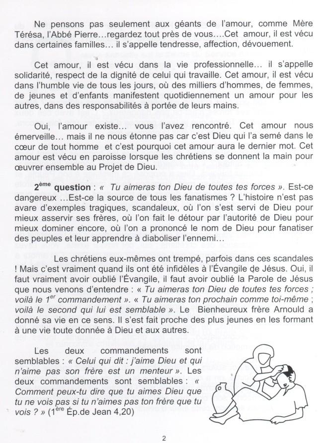 DU BIENHEUREUX FRERE ARNOULD.... A FRERE ANDRE, Saint. - Page 2 Omelie10