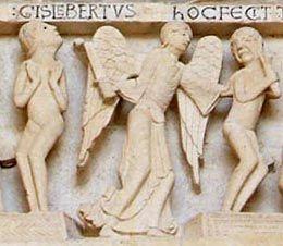 Plaque en fonte avec inscription gislebertus hoc fecit 57844110