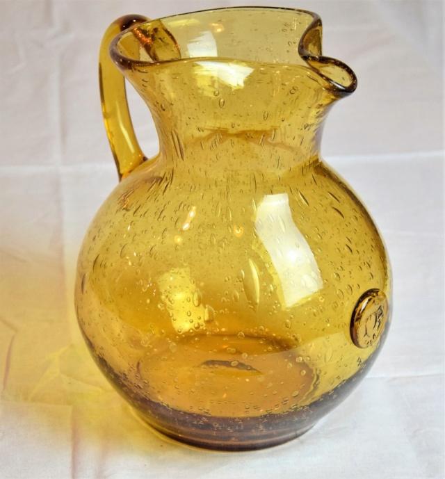 Vase et broc à eau Verrerie d'art de Avallon Grand-10