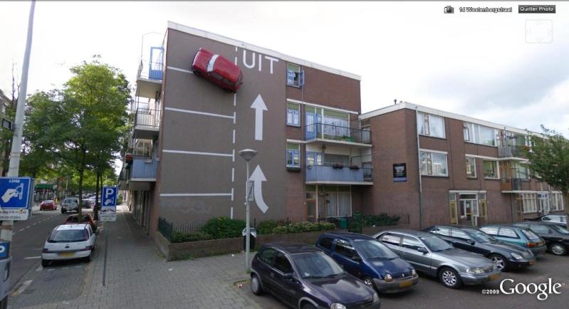 Mini garée contre un mur ? La Haye - Pays-Bas Voitur11
