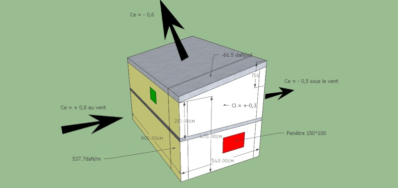 Etude stabilité construction monopente R+1 Contre10