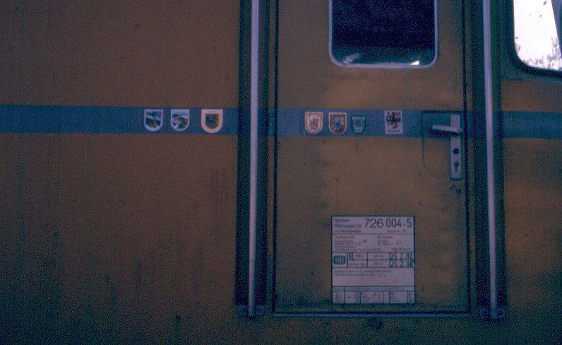 Die Baureihe 725/726 - der Gleismeßzug 726_0011