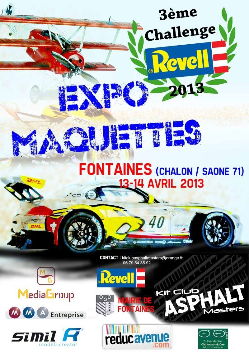 Expos Fontaines 71+ Challenge Revell - 13 & 14 Avril 2013 Affich10