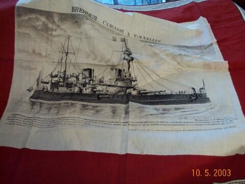 LES MOUCHOIRS D'INSTRUCTION MILITAIRES (Marine et Bateaux) Moucho10