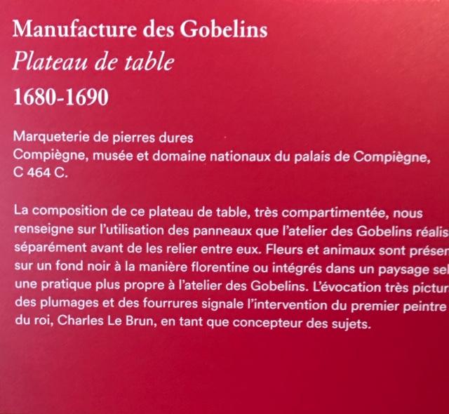 Exposition Créer pour Louis XIV, Galerie des Gobelins - Page 2 Img_4716