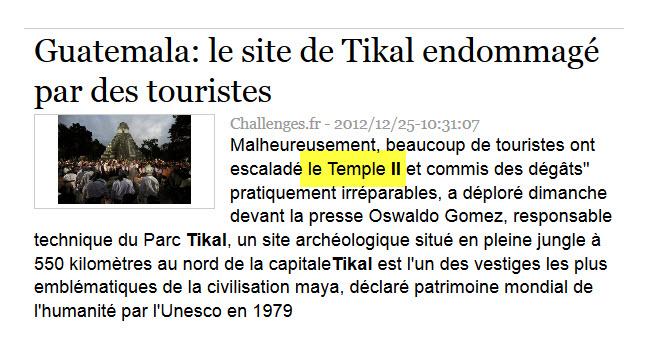Le temple Tikal II - Guatemala, victime du 21 décembre 2012 25-01-10