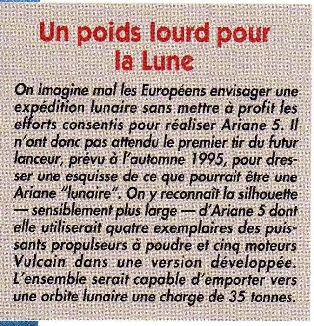 Utilisation d'Ariane 5 pour livrer du matériel sur la lune Ariane12