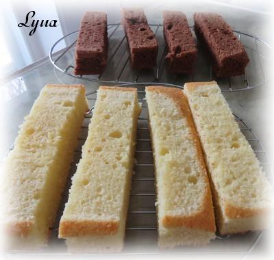 Gâteau Battenberg au chocolat et amandes Batten12