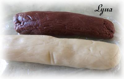 Gâteau Battenberg au chocolat et amandes Batten14