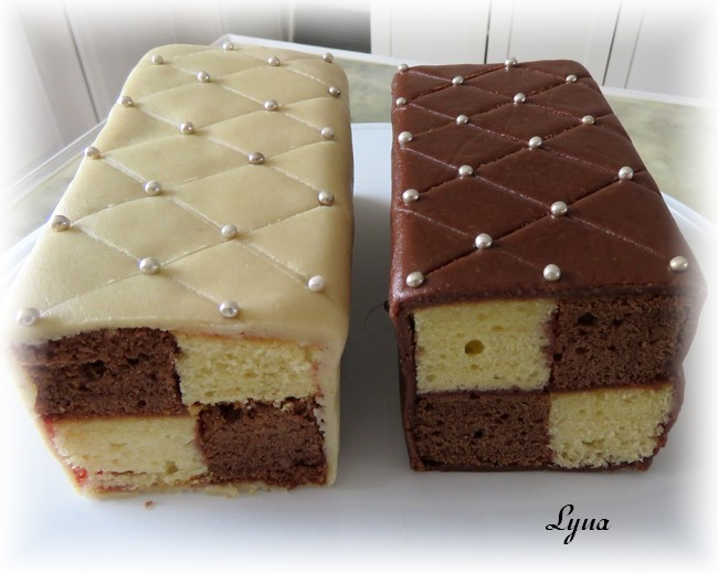 Gâteau Battenberg au chocolat et amandes Batten15