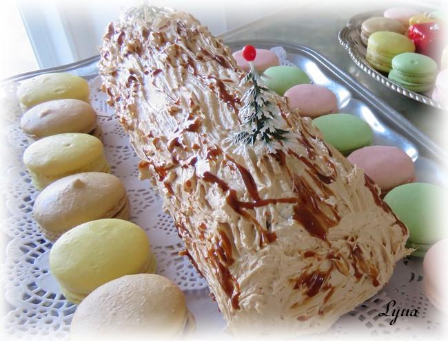 Crème au beurre meringue Suisse au dulce de leche Buche310