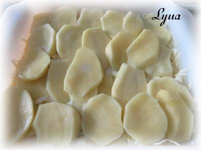 Gratin de pommes de terre au cheddar et purée de citrouille Gratin10