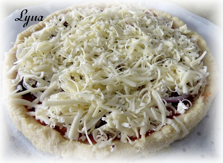 Pizza croûte de chou fleur Pizza310