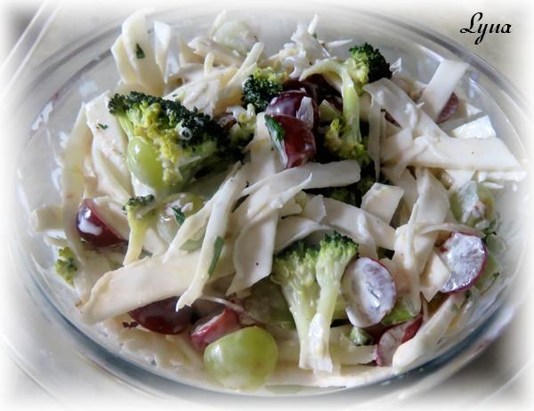Salade de céleri-rave, brocoli et raisins Salade11