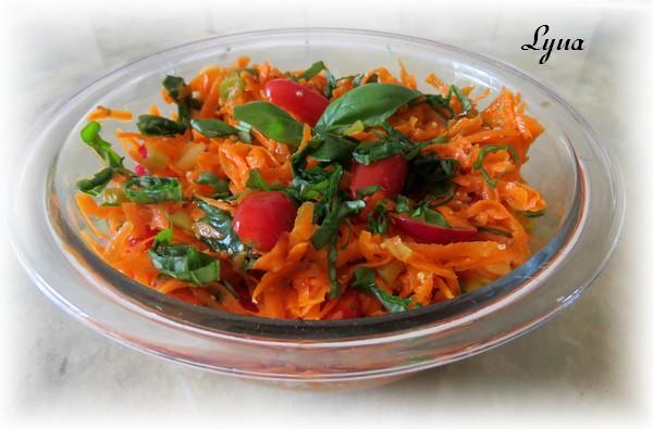 Salade de carottes, vinaigrette au citron Salade14