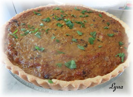 Tarte à l'oignon et olives kalamata Tarte_11