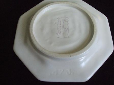 Shape 473 Octagonal Ship Ashtray from Kat & Co _473_b10