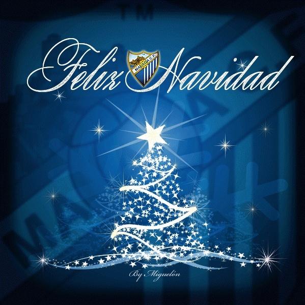 La plantilla del Málaga CF desea una Feliz Navidad Fnm10