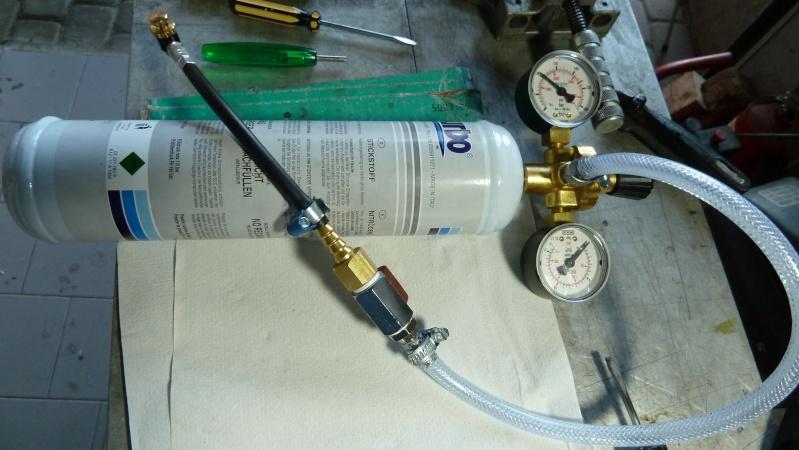 Ho ricaricato il monoammortizzatore!  Kit di autoricarica Azoto P1040126