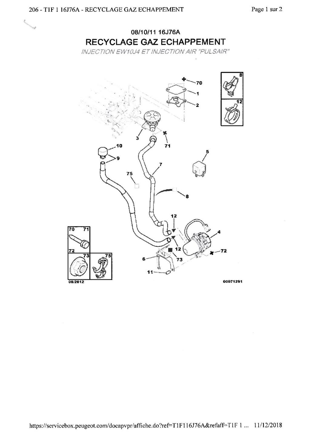 Raccords d'air (recyclage des gaz d'échappement) qui partent en lambeau Doc00210