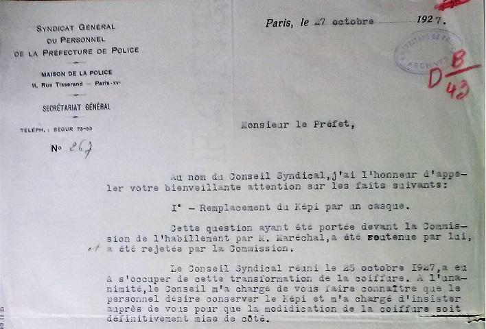 Casque en liège de la Police Parisienne - Page 3 1927_110