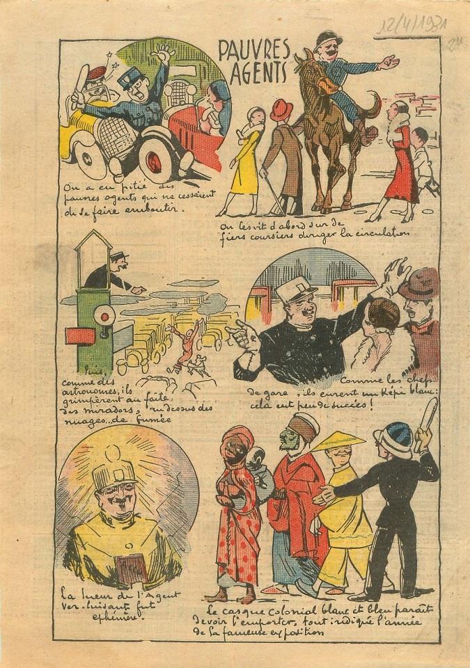 Casque en liège de la Police Parisienne - Page 3 1931_110