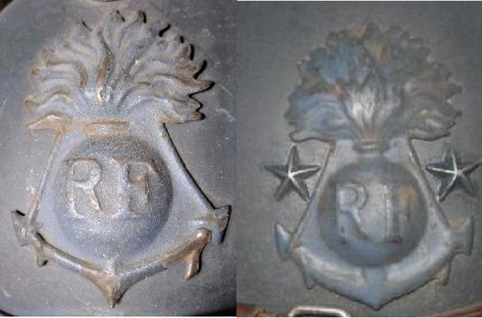 Authenticité insigne modèle 1915 Colo - casque modèle 1926 Colo_013